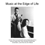 Music at the Edge of Life: Commemorating composers/victims of the Holocaust